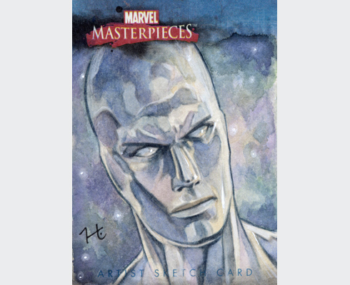 Watercolor sketch card for the Marvel Masterpieces set from Rittenhouse Archives.